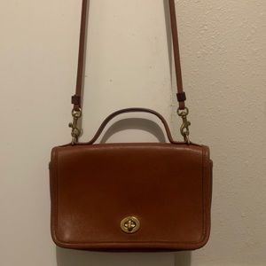 Vintage Coach Casino Bag British Tan Leather